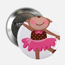 "Monkey Ballerina 2.25"" Button"
