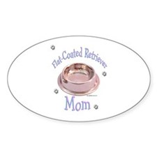 Flat-Coated Mom Oval Decal