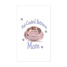 Flat-Coated Mom Rectangle Decal
