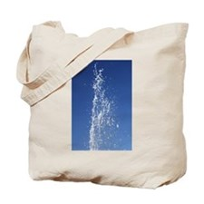 Jet Of Water Frozen In Time Tote Bag