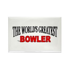 """""""The World's Greatest Bowler"""" Rectangle Magnet"""