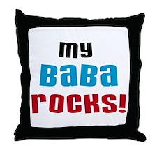 My Baba Rocks Throw Pillow