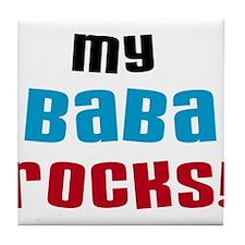 My Baba Rocks Tile Coaster