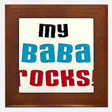 My Baba Rocks Framed Tile