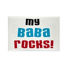 My Baba Rocks Rectangle Magnet