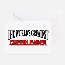 """""""The World's Greatest Cheerleader"""" Greeting Cards"""