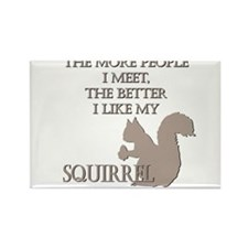 Like My Squirrel Rectangle Magnet