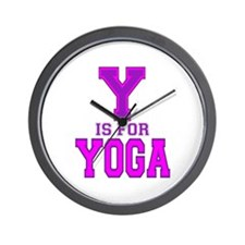 Y is for Yoga Wall Clock