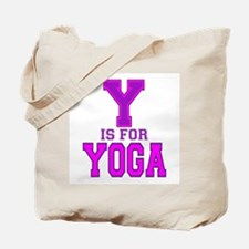 Y is for Yoga Tote Bag