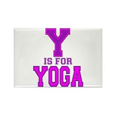 Y is for Yoga Rectangle Magnet