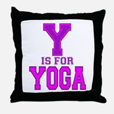 Y is for Yoga Throw Pillow