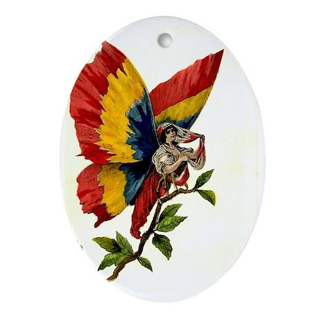 Vintage Romania Oval Ornament