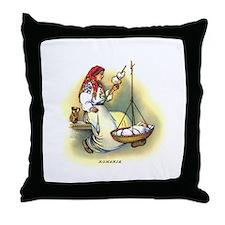 Vintage Romania Throw Pillow