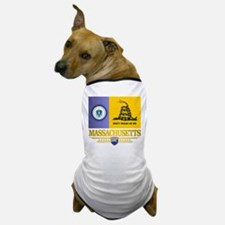 Massachusetts Gadsden Flag Dog T-Shirt