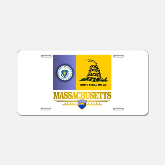 Massachusetts Gadsden Flag Aluminum License Plate