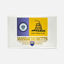 Massachusetts Gadsden Flag Rectangle Magnet