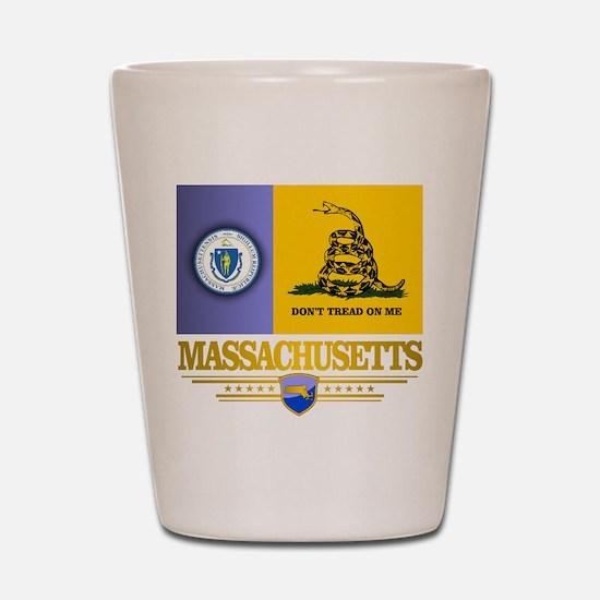 Massachusetts Gadsden Flag Shot Glass