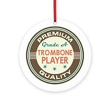 Trombone Player Vintage Ornament (Round)