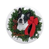 Boston terriers Round Ornaments