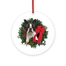 Boston Terrier Keepsake/Ornament (Round)