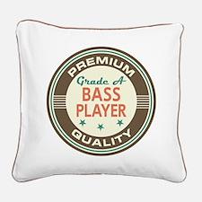 Bass Player Vintage Square Canvas Pillow