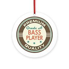 Bass Player Vintage Ornament (Round)