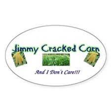 Jimmy Cracked Corn Oval Decal