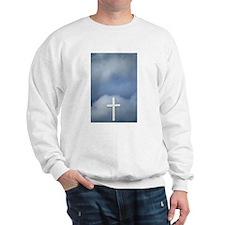 White Cross Set Against A Stormy Sky Sweatshirt