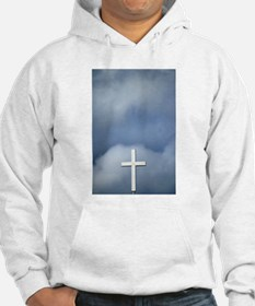 White Cross Set Against A Stormy Sky Hoodie