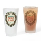 Banjo player Pint Glasses