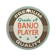 Banjo Player Vintage Ornament (Round)