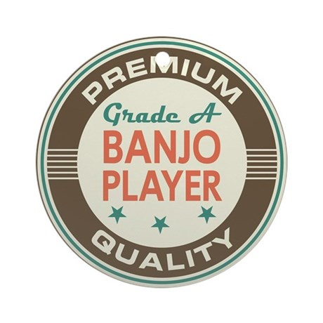 Banjo Player Vintage Ornament (Round)