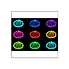 Condom Rainbow Pop Art Sticker