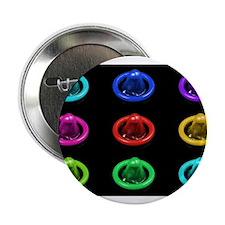"Condom Rainbow Pop Art 2.25"" Button"