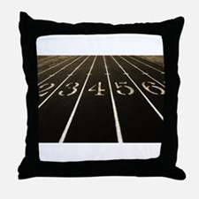Race Track Numbers In Sepia Tone Throw Pillow