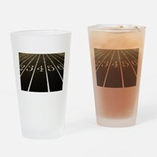 Race Track Numbers In Sepia Tone Drinking Glass