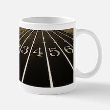 Race Track Numbers In Sepia Tone Mug