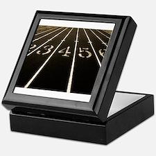 Race Track Numbers In Sepia Tone Keepsake Box
