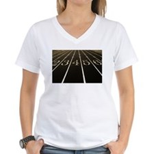 Race Track Numbers In Sepia Tone T-Shirt