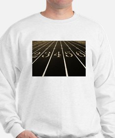 Race Track Numbers In Sepia Tone Sweatshirt