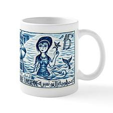 Vintage 1959 Tunisia Mermaid Postage Stamp Mug