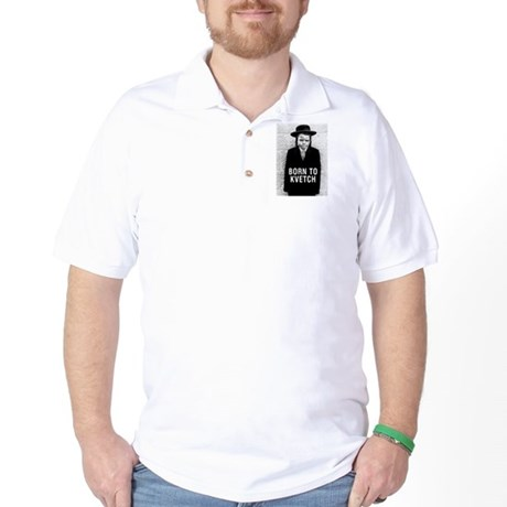 """Born to Kvetch"" cover Golf Shirt"