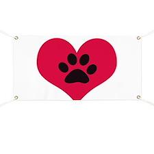 pawprintheartplain Banner