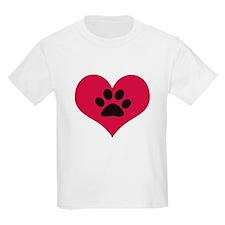 pawprintheartplain T-Shirt