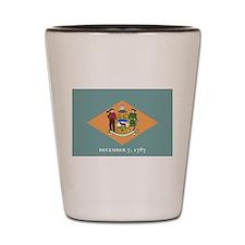 Delaware Flag Shot Glass