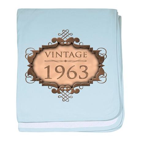 1963 Birthday Vintage (Rustic) baby blanket