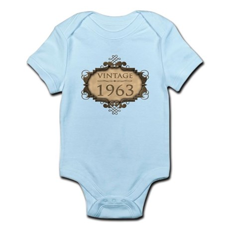 1963 Birthday Vintage (Rustic) Infant Bodysuit