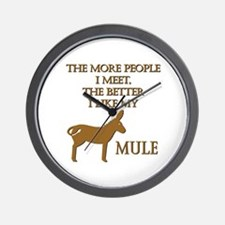 Like My Mule Wall Clock