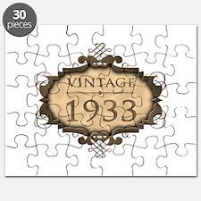 1933 Birthday Vintage (Rustic) Puzzle
