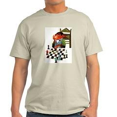 Monkey Playing Chess Ash Grey T-Shirt